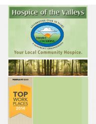 Hospice of the Valleys – February Newsletter 2015