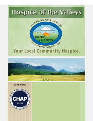Hospice of the Valleys – March Newsletter 2016
