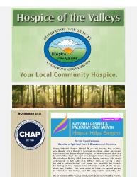 Hospice of the Valleys – November Newsletter 2015