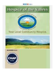 Hospice of the Valleys – November Newsletter 2016